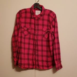 Hot pink plaid shirt